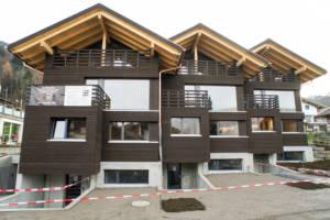 Drei Reiheneinfamilienhäuser in Holzbauweise