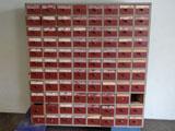 Regal mit 88 Schubladen
