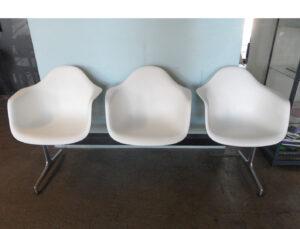 Eames Plastic Armchair Bank 3er